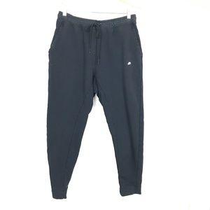 Nike Black Modern Slim Side Zip Drawstring Joggers